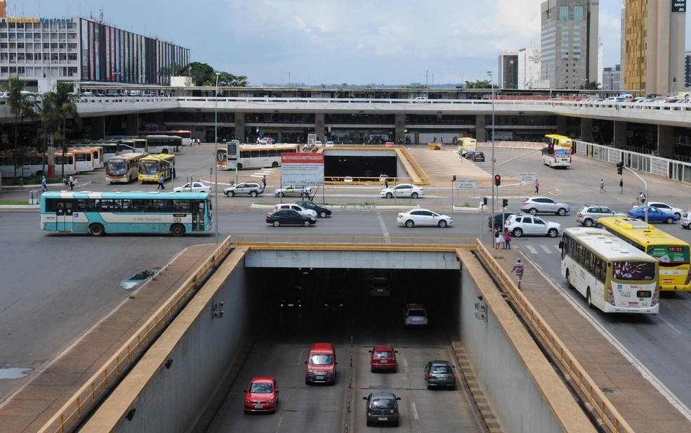 Vista geral da rodoviária do Plano Piloto e do Buraco do Tatu, em Brasília (Foto: Gabriel Jabur/GDF/Divulgação)