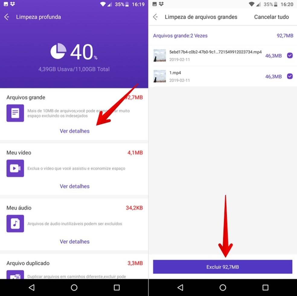 Faça a limpeza profunda no celular Android com o app Nox Cleaner — Foto: Reprodução/Helito Beggiora