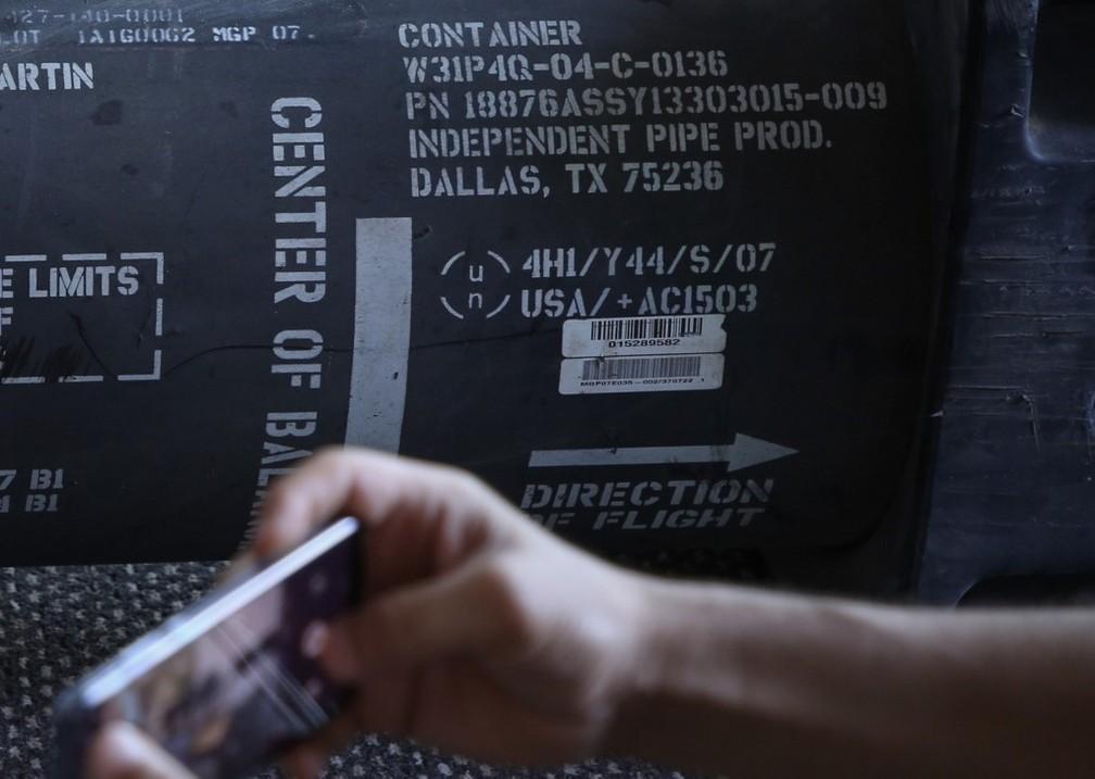Marcas encontradas em mísseis provariam que o armamento localizado na Líbia tem origem nos EUA — Foto: AFP