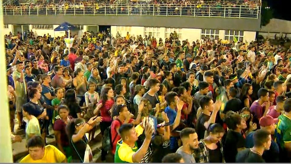 Evento reuniu cerca de 400 mil pessoas em Manaus — Foto: Priscila Gama/Rede Amazônica