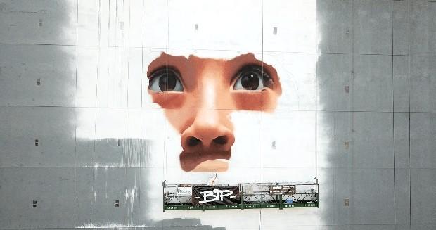 Grafiteiro anônimo inaugura mural de 2025m² em prédio de São Paulo  (Foto: Divulgação )
