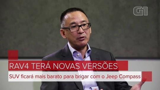 Toyota RAV4 vai ganhar versões mais baratas, diz presidente