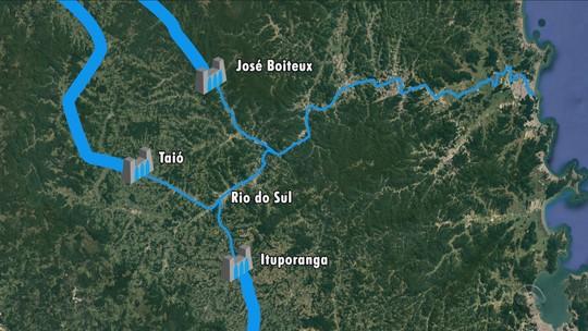 Em período de chuva intensa, entenda a função das barragens do Vale do Itajaí