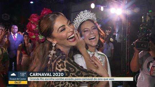 Grande Rio escolhe samba para Carnaval 2020 e Paolla Oliveira é coroada como rainha de bateria