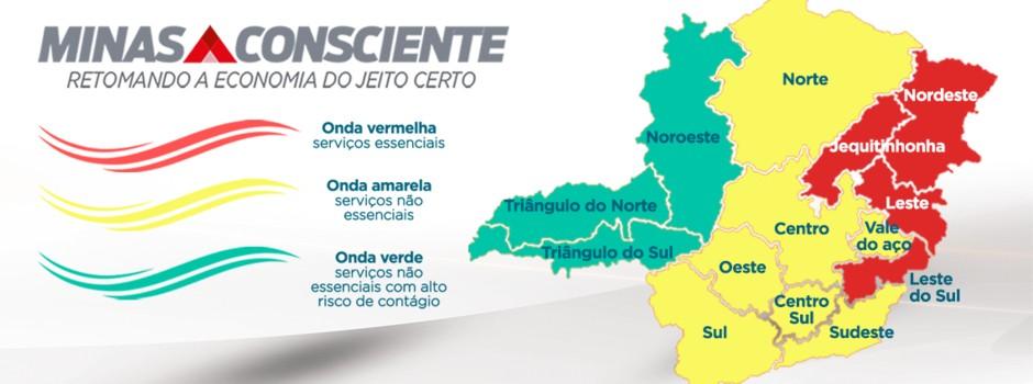 Macrorregiões Triângulo do Norte, do Sul e Noroeste de MG são as únicas a permanecerem na Onda Verde em nova classificação do Minas Consciente