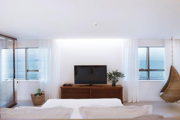 Nos 53 apartamentos (divididos em três categorias), as cores reproduzem o tom da areia (Foto: divulgação)