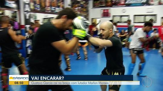 """""""Vai Encarar?"""" aprende técnicas de muay thai com Anderson França e o lutador do UFC, Marlon Moraes"""
