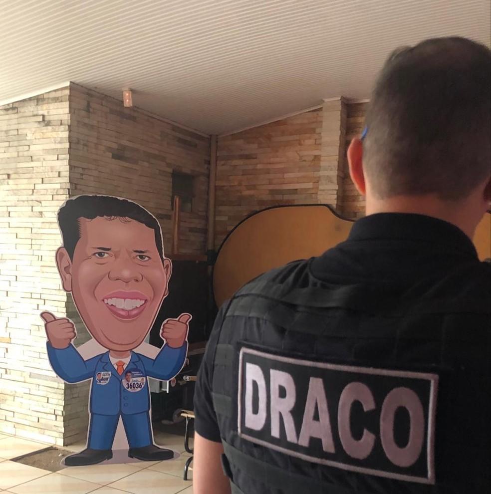 Deputado eleito foi preso pela Polícia Civil em RO — Foto: Polícia Civil/Divulgação