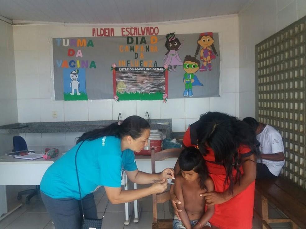 -  Campanha de vacinação contra gripe pretende vacinar mais de 34 mil indígenas no Maranhão  Foto: Divulgação/SES