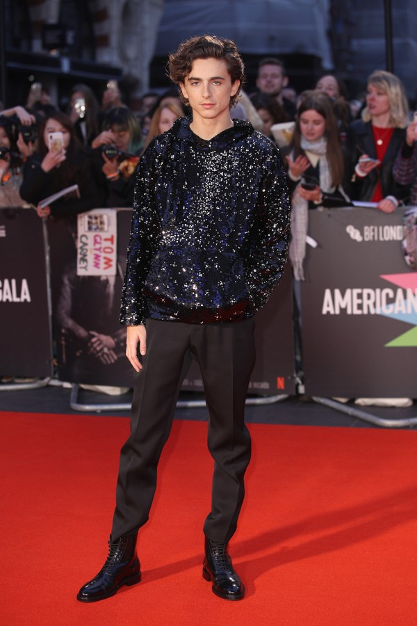 "LONDON, ENGLAND - OCTOBER 03: Timothee Chalamet attends ""The King"" UK Premiere during the 63rd BFI London Film Festival at Odeon Luxe Leicester Square on October 03, 2019 in London, England. (Photo by Mike Marsland/WireImage) (Foto: Mike Marsland/WireImage)"