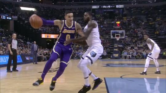 No embalo de LeBron e Kuzma, Lakers dominam os Grizzlies e voltam a vencer fora de casa