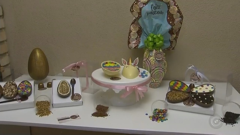 Procura por ovos de Páscoa em Tatuí já começou, diz doceira (Foto: Reprodução/TV TEM)