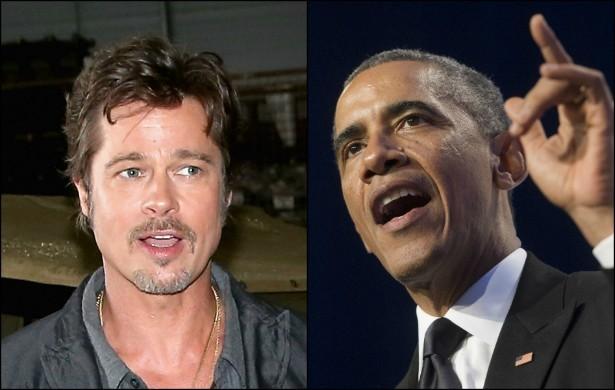 Brad Pitt e Barack Obama (Foto: Getty Images)
