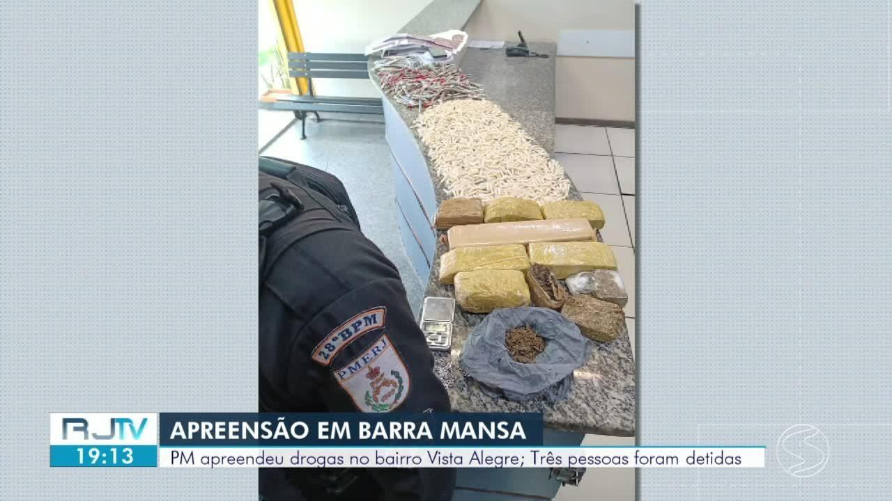 PM prende casal e apreende menor com grande quantidade de drogas em Barra Mansa