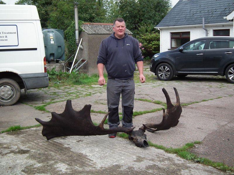 Ossada do animal foi encontrado durante a pesca de dois irlandeses (Foto: Reprodução/Ardboe Heritage)