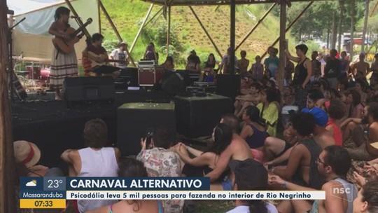 Shows, astral e diversidade: G1 foi conferir o Psicodália no carnaval em SC; VÍDEO