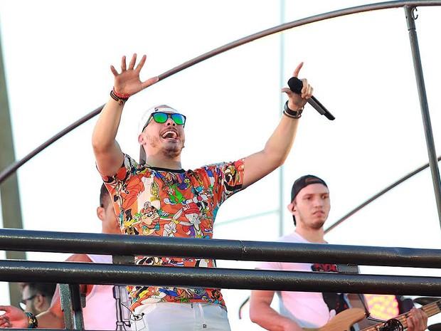 Wesley Safadão começa desfile no circuito Dodô (Foto: Mauro Zaniboni /Ag Haack)