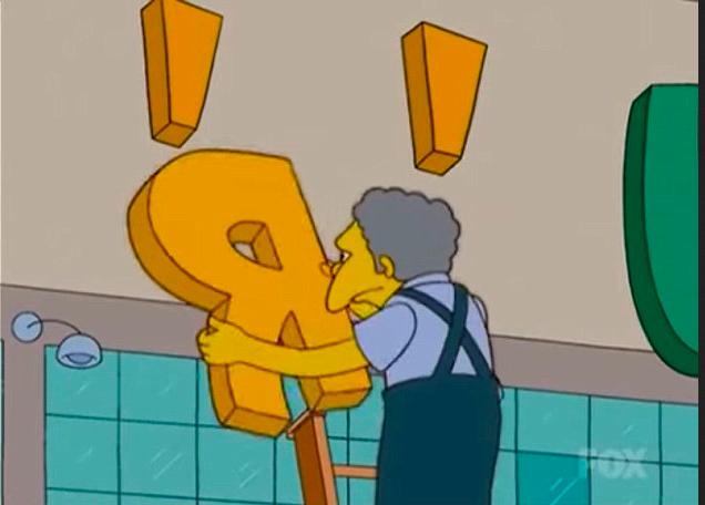 A cena que mostra o fechamento da loja Toys R Us na cidade de Springfield de Os Simpsons (Foto: Reprodução)