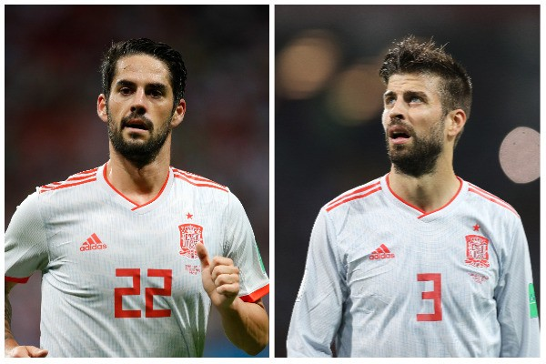 Gerard Pique e Isco (Foto: Getty Images)