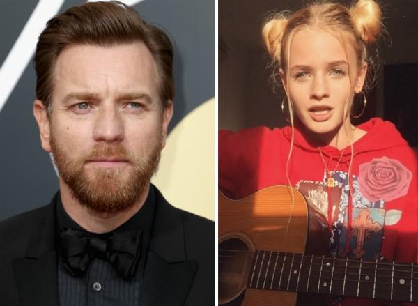 O ator Ewan McGregor e a filha cantora (Foto: Getty Images/Instagram)