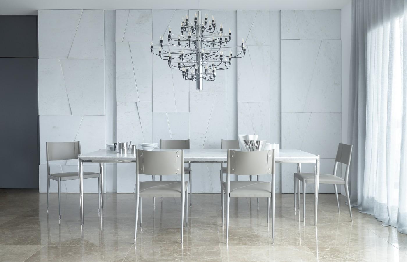 Décor do dia: sala de jantar monocromática e integrada ao living (Foto: Mariana Boro)