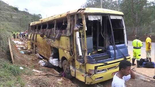 Bebê de 8 meses está entre os 7 mortos em acidente com ônibus que saiu de Itabuna e tombou em MG