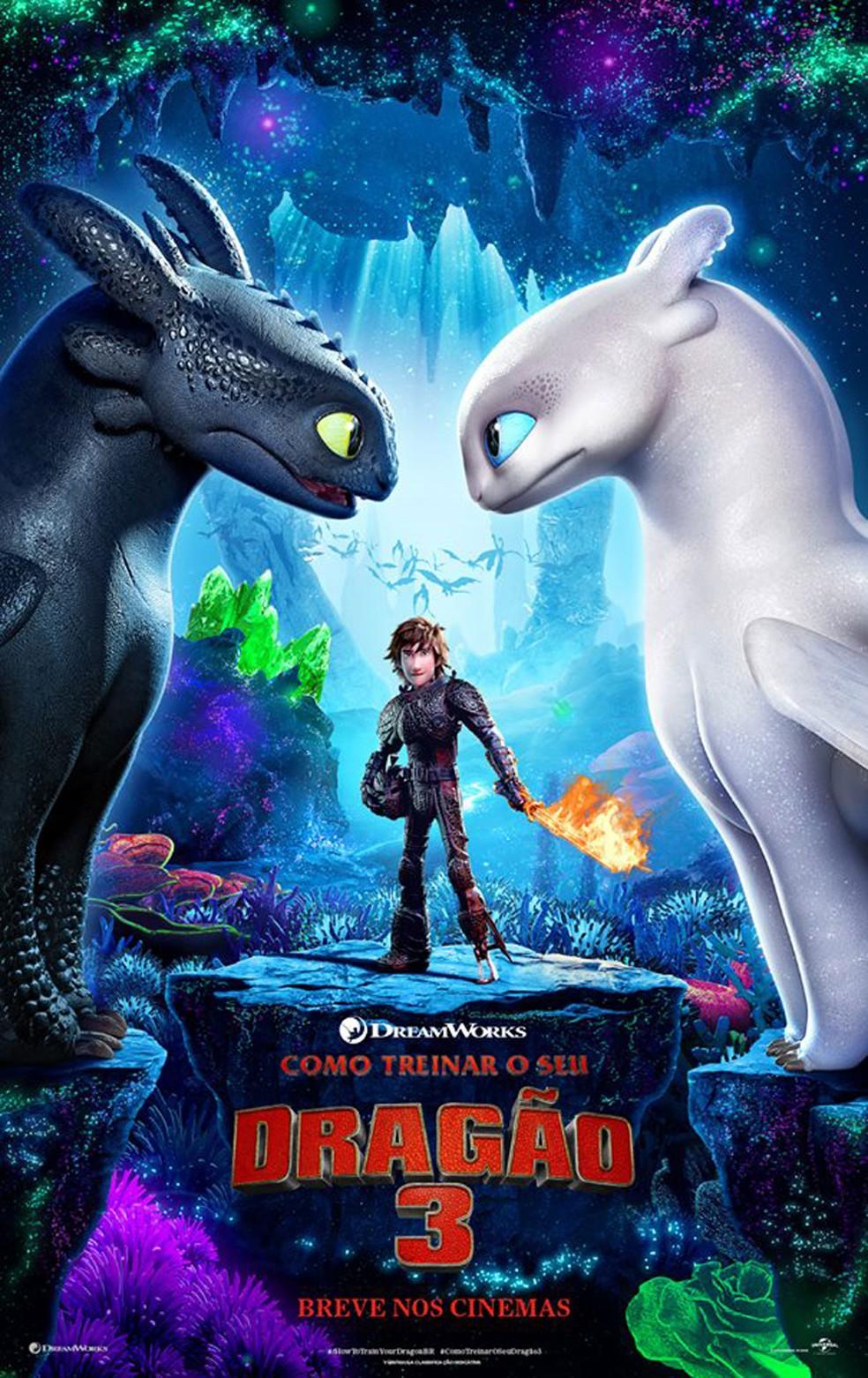 Cartaz do filme 'Como treinar o seu dragão 3' (Foto: Divulgação)