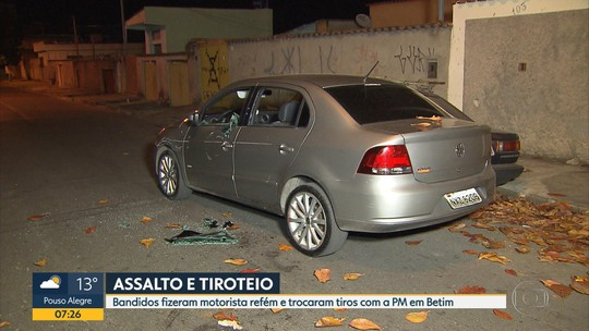 Assalto termina em troca de tiros entre suspeitos e polícia em Belo Horizonte