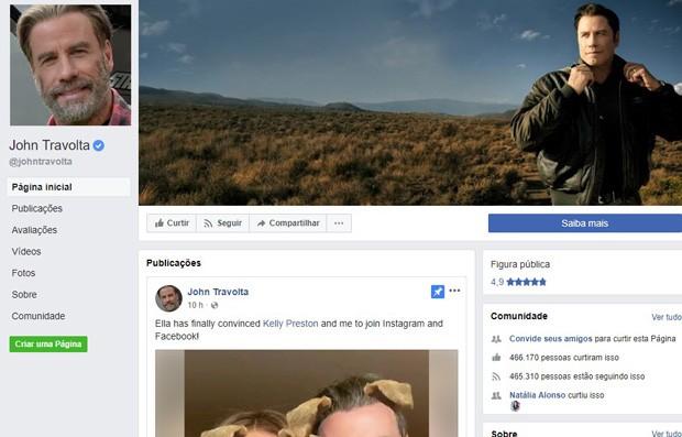 John Travolta (Foto: Reprodução/Facebook)
