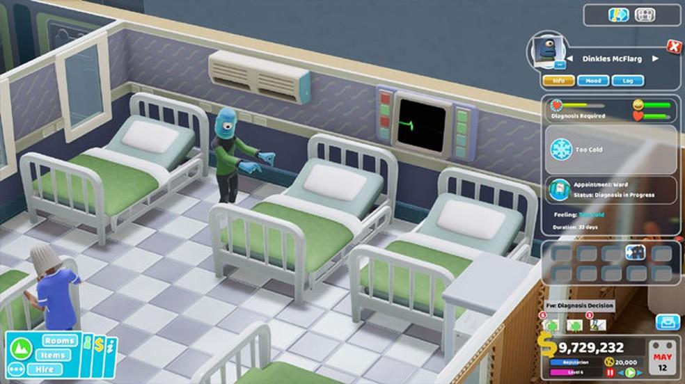 Two Point Hospital: Jumbo Edition trará novas expansões para as edições do game nos consoles — Foto: Reprodução/Steam