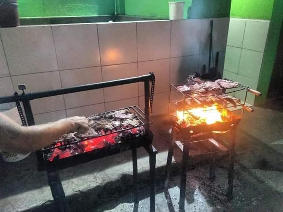 Detentos fazem festa de Natal na Penitenciária Juiz Plácido de Souza — Foto: WhatsApp/Reprodução