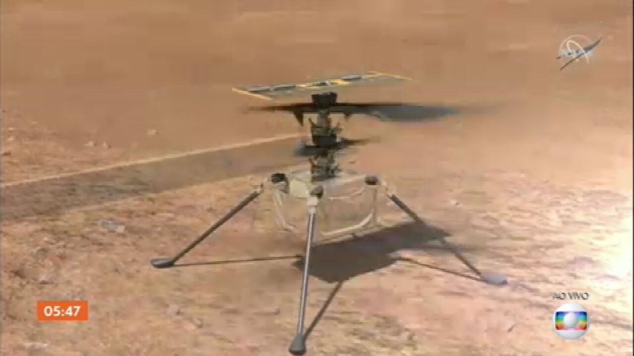 Nasa divulga plano de voo do helicóptero Ingenuity em Marte