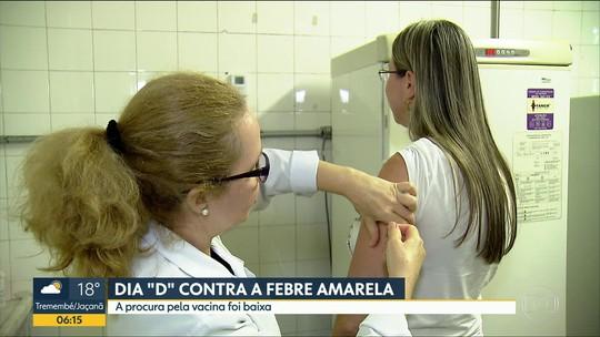 Procura por vacina contra febre amarela é pequena em Dia 'D' da imunização em SP