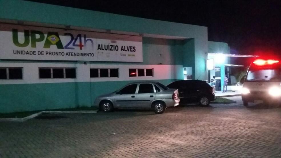 UPA de Macaíba foi alvo dos criminosos (Foto: Sérgio Henrique Santos/Inter TV Cabugi)
