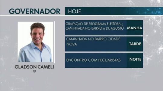 Confira a agenda dos candidatos ao Governo do Acre em 19 de setembro
