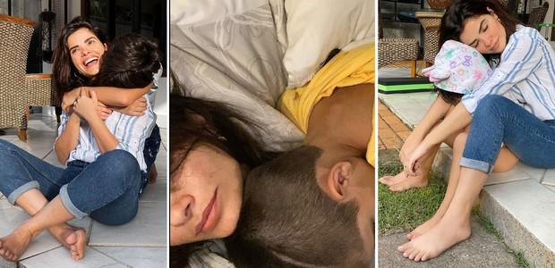 Vanessa Giácomo evita expor os rostos dos filhos -- Raul, Moisés e Maria -- nas redes sociais (Foto: Reprodução/Instagram)