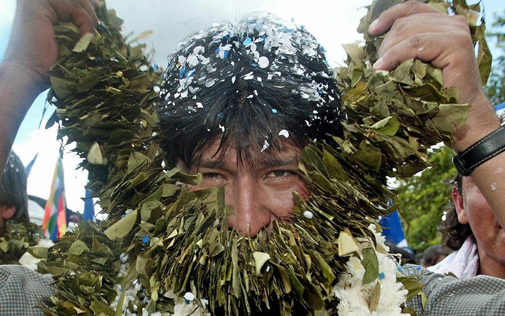 O agora ex-presidente da Bolívia Evo Morales, que renunciou neste domingo (10) — Foto: Aizar Raldes/AFP