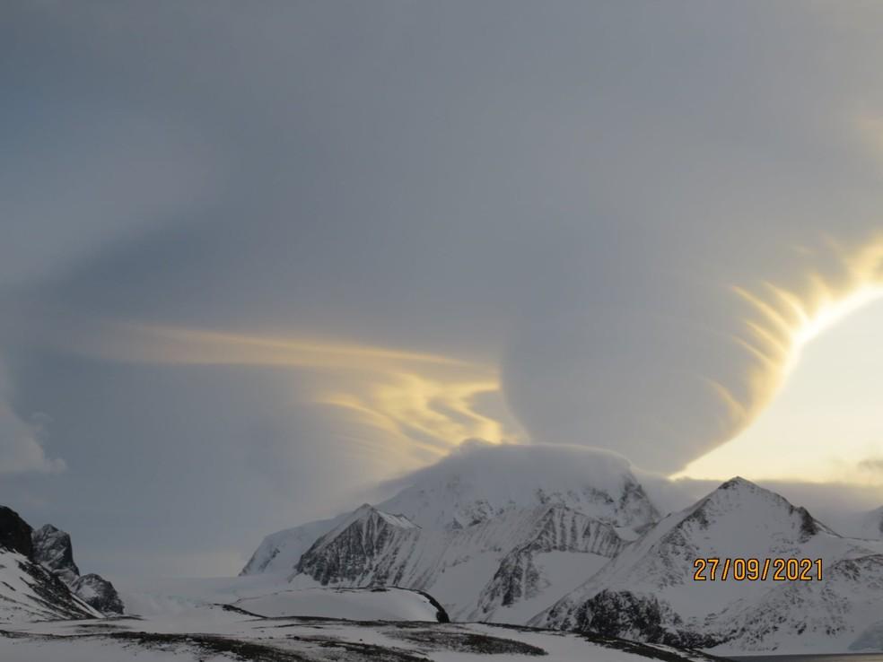 Nuvens lenticulares foram vistas na Argentina — Foto: Sistema Meteorológico Nacional da Argentina