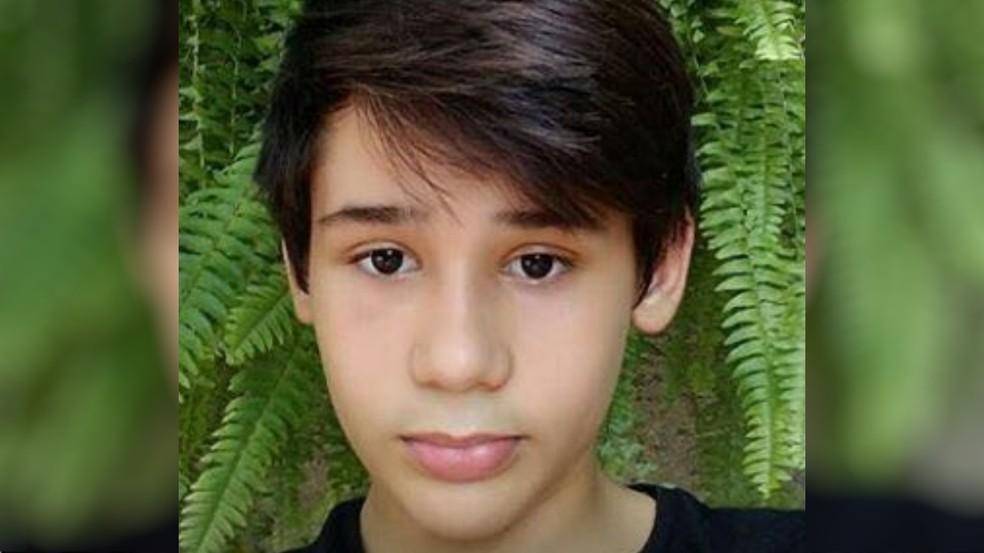 João Pedro Calembo morre em ataque em escola de Goiânia (Foto: Reprodução/ TV Anhanguera)