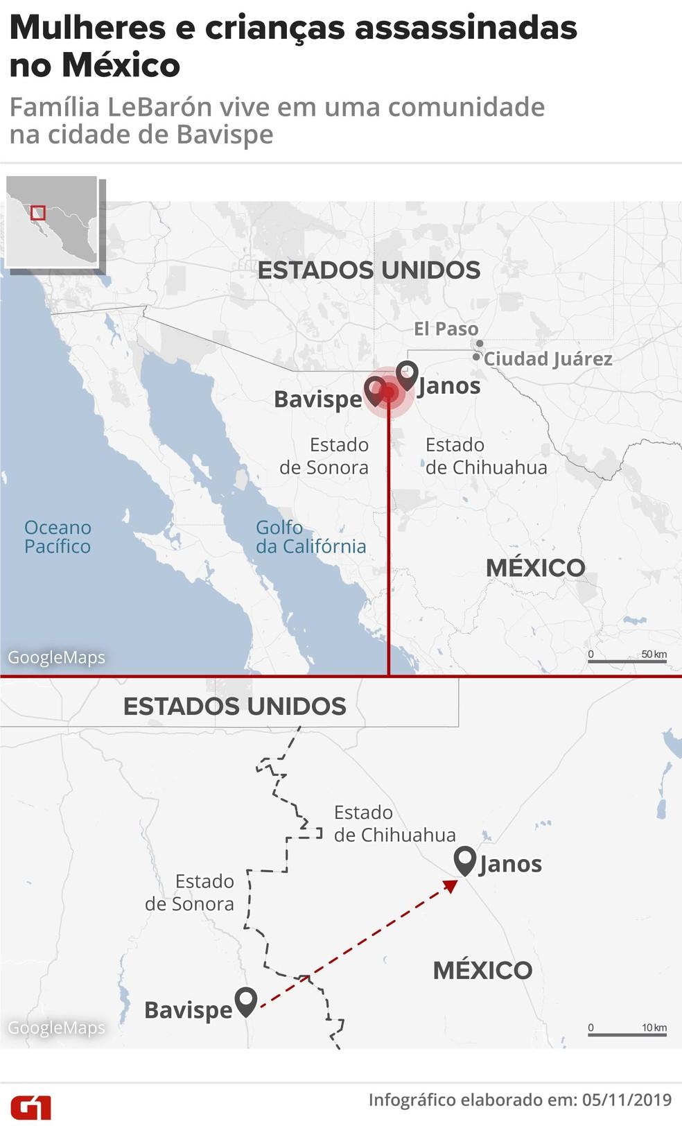 Mulheres e crianças foram assassinadas no México — Foto: G1