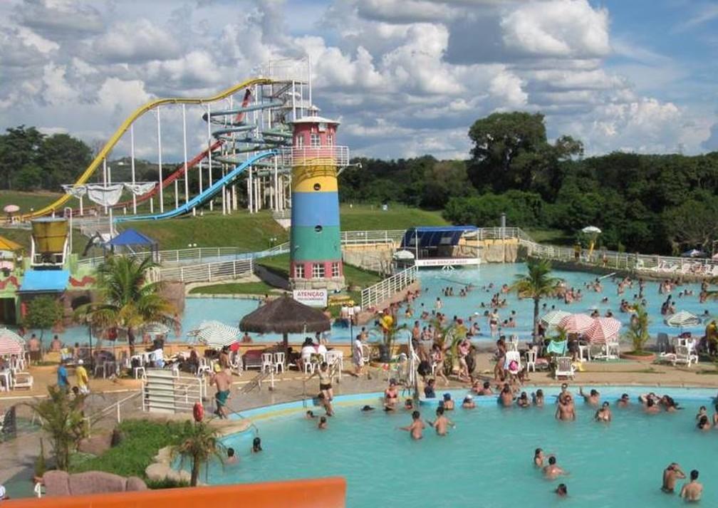 Torre de 15 metros de altura fica no Parque Aquático da Cidade da Criança (Foto: AI/Cidade da Criança)