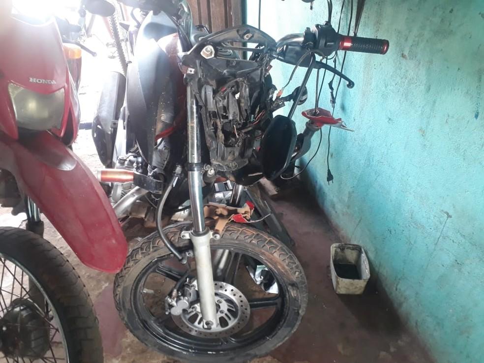 Polícia apreende moto envolvida em acidente em Tucuruí, no Pará. — Foto: Reprodução / Polícia Civil