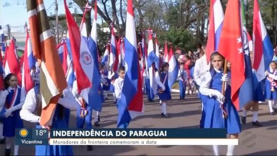 Fronteira comemora independência do Paraguai
