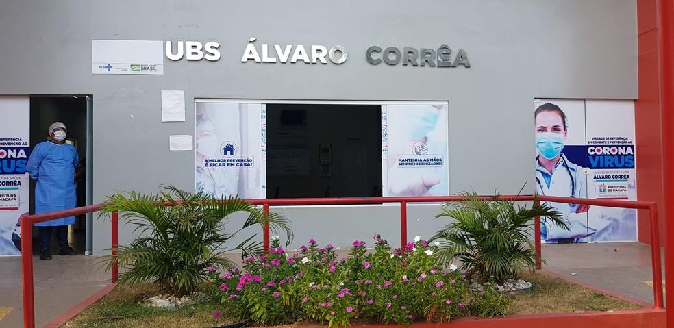 UBS Álvaro Corrêa, no bairro São Lázaro, em Macapá  — Foto: PMM/Divulgação