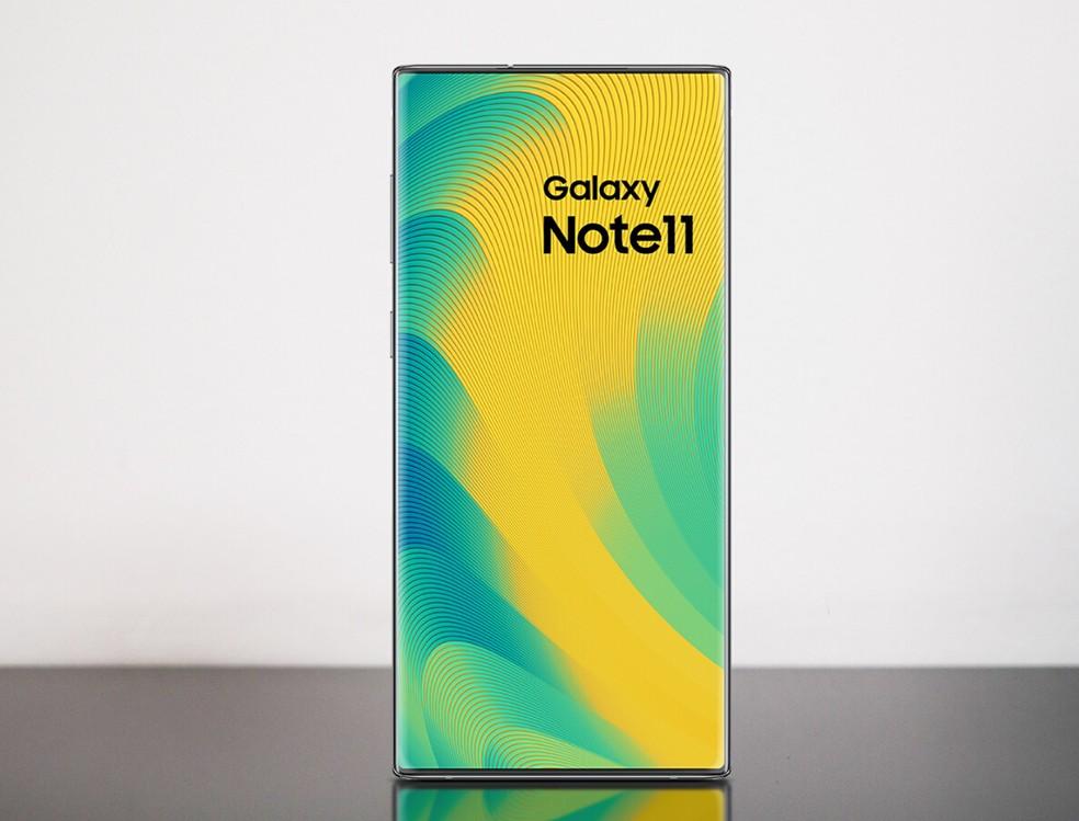 Galaxy Note 11 pode vir com câmera de selfie oculta sob painel — Foto: Reprodução/Phone Arena