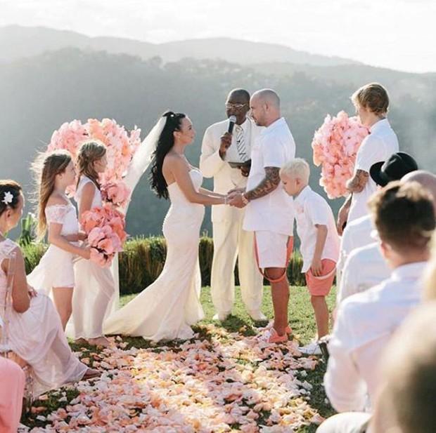 Casamento de Jeremy Bieber, pai de Justin Bieber (Foto: Reprodução/Instagram)