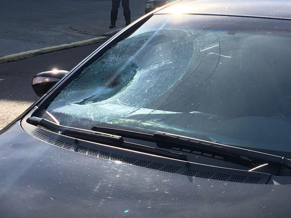 Atropelamento foi na Avenida Manoel Goulart, em Presidente Prudente (Foto: Valmir Custódio/G1)