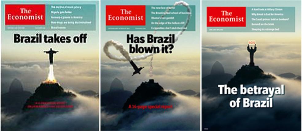Cristo já esteve em outras capas da revista — Foto: Reprodução/The Economist