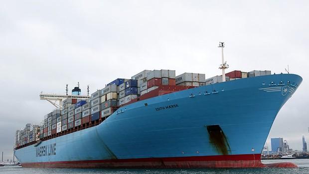 Navio de carga (Foto: Flickr/ Maersk)