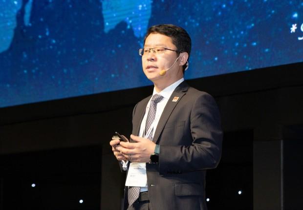 Sun Baocheng, presidente da Huawei no Brasil, falou sobre a tecnologia 5G (Foto: Divulgação/Futurecom)